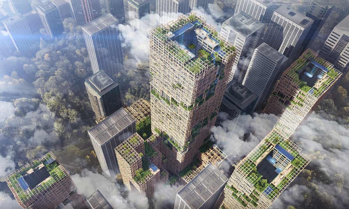 绿色建材-世界第一木结构摩天楼接近完工